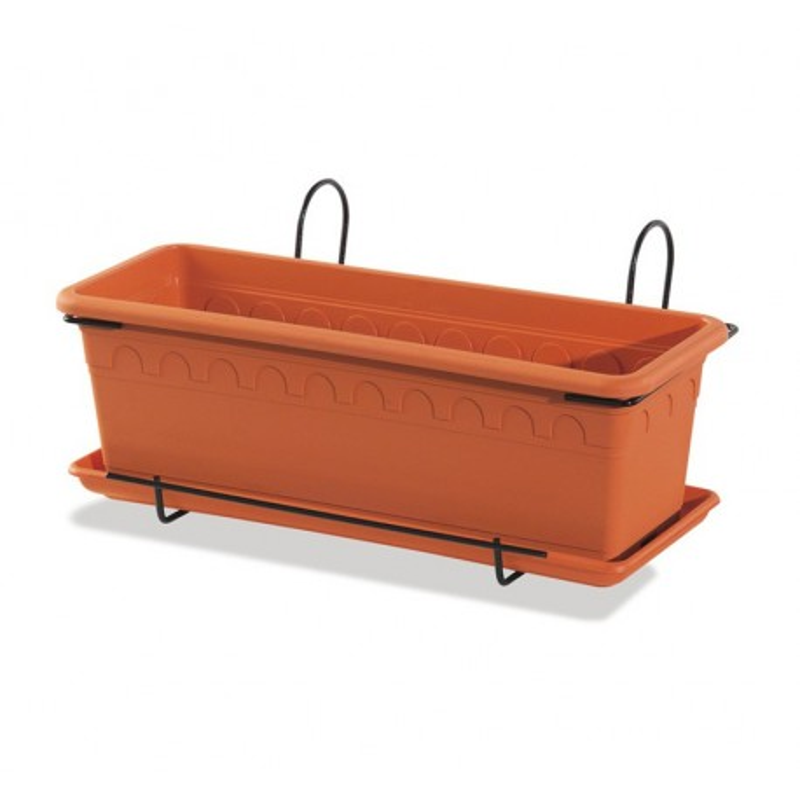 jardini re suspendue pour balcon en terre naturelle 50 cm. Black Bedroom Furniture Sets. Home Design Ideas