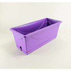 Jardinière Amboise 40 cm + soucoupe - violet