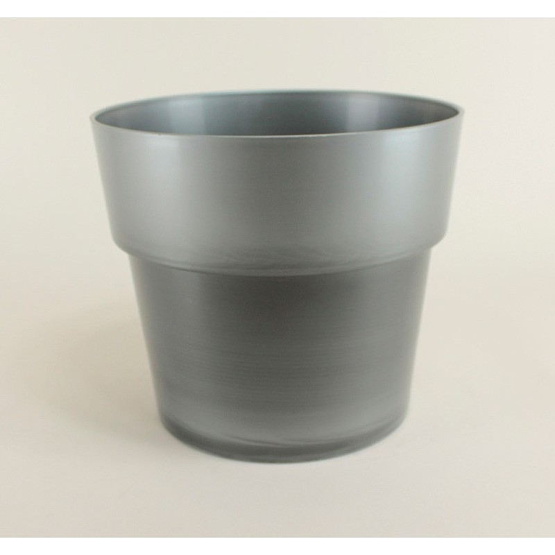 Cache pot flora 20 cm argent for Cache pot exterieur