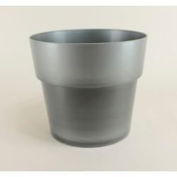 Cache pot Flora Ø23 cm - argent