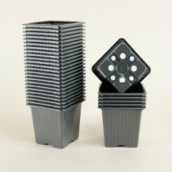 Godets 8x8x7 (x30) - noir