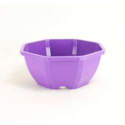 Coupes décoratives 23 cm (x5) - violet
