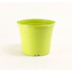 Pots décor Europa Ø14 cm (x5) - vert pomme