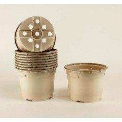 Pots ronds Ø13 cm (x10) - BIOCOMPOSTABLE