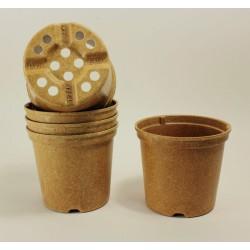 Pots NAPAC Ø14 cm (x5) - BIOCOMPOSTABLE