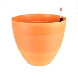 Pot décor Tania à réserve d'eau Ø 28 cm - Orange