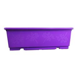 Jardinière NJ 40 cm + soucoupe - violet