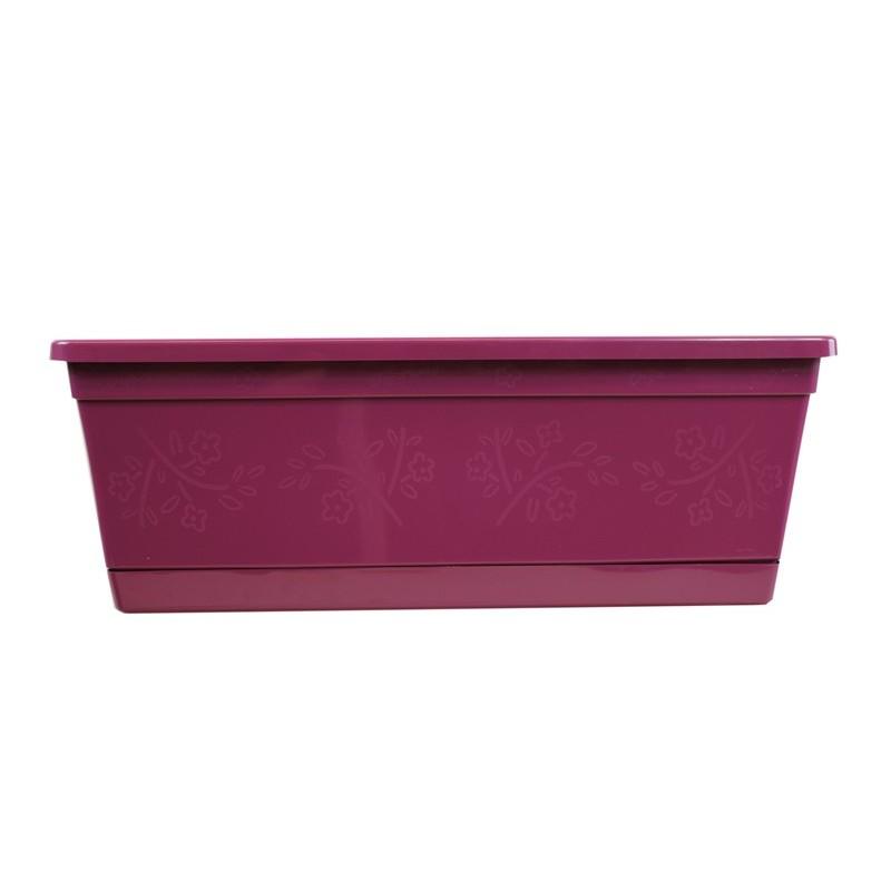 Jardini re rectangulaire couleur prune pour fen tres et - Jardiniere pour balcon rectangulaire ...