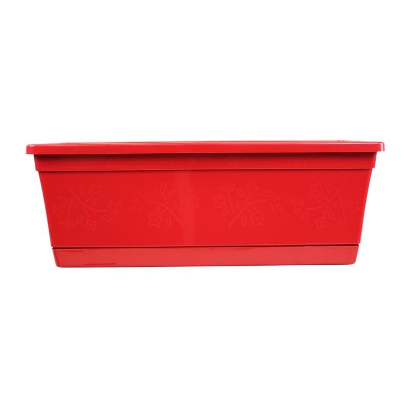 jardini re d co rouge pour fleurs d 39 int rieur ext rieur. Black Bedroom Furniture Sets. Home Design Ideas