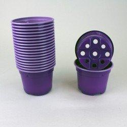 Pots ronds Ø9 cm (x20) - violet