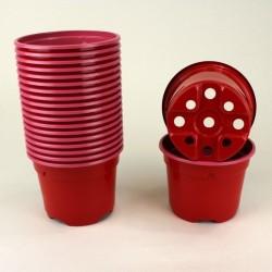 Pots ronds Ø9 cm (x20) - rouge