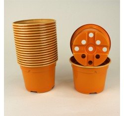 Pots ronds Ø10.5 cm (x20) - orange