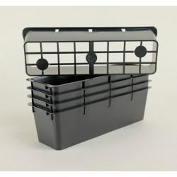 Clayettes PM3 pour godets 7x7x6.4 (x5) - noir