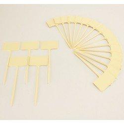 Etiquettes à planter 13.5 cm (x20) - ivoire