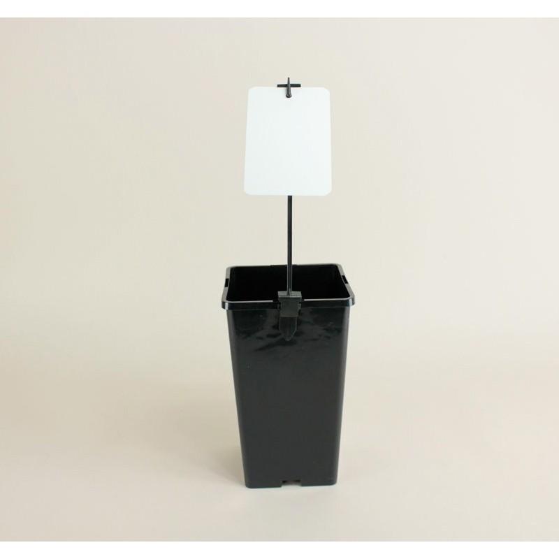 Piquets porte étiquette 13 cm (x20) - noir