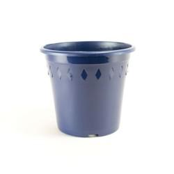 Pots décor Europa Ø19 cm (x5) - bleu nuit