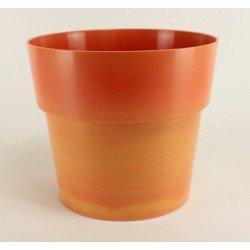 Cache pot Flora Ø20 cm - orange
