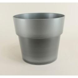 Cache pot Flora Ø20 cm - argent