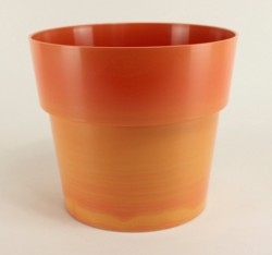 Cache pot Flora Ø23 cm - orange