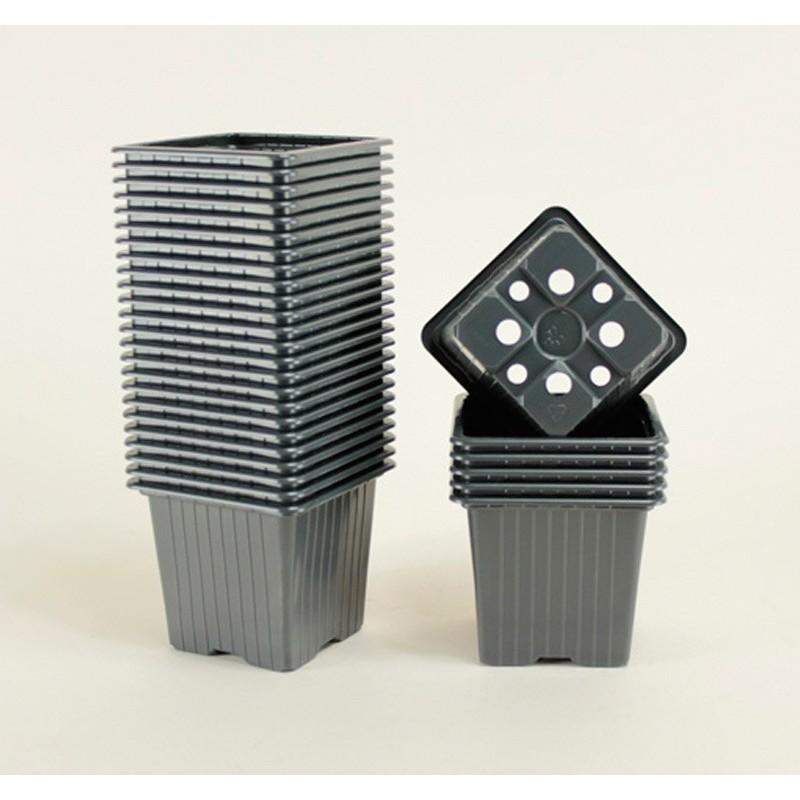 Godets 7x7x6.4 (x30) - noir