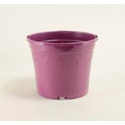 Pots décor Europa Ø14 cm (x5) - prune