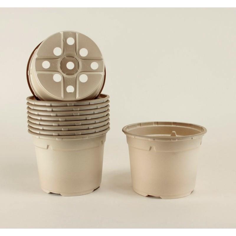 Pots ronds Ø12 cm (x10) - BIOCOMPOSTABLE