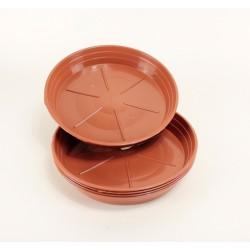 Soucoupes Ø22 cm (x5) - couleur terre cuite