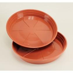 Soucoupes Ø24 cm (x2) - couleur terre cuite