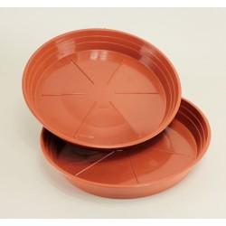 Soucoupes Ø26 cm (x2) - couleur terre cuite