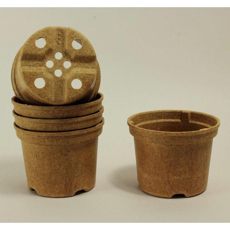 Pots NAPAC Ø10.5 cm (x5) - BIOCOMPOSTABLE
