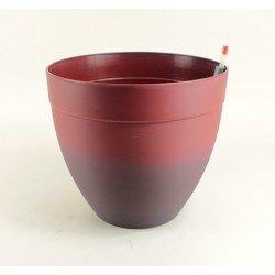 Pot décor Tania à réserve d'eau Ø 28 cm - Acajou