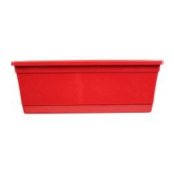 Jardinière NJ 40 cm + soucoupe - rouge