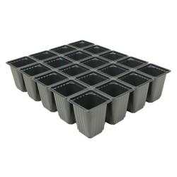 Plaque de 20 godets sécables 7x7x8 cm - noir