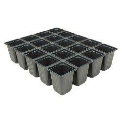 Plaque de semis récupérable 15 Trous - noir