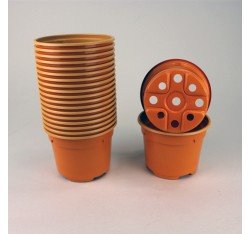 Pots ronds Ø9 cm (x20) - orange