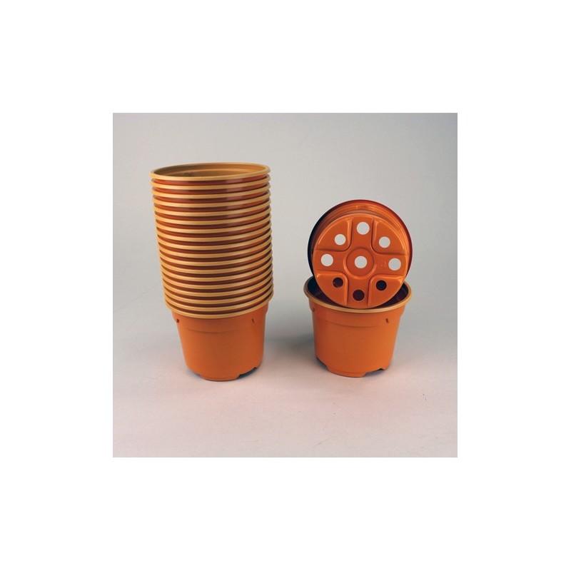 Pots ronds Ø9 cm (x20) - orange