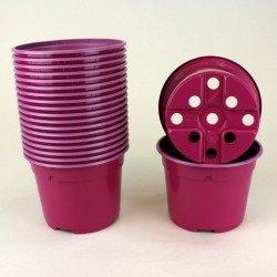 Pots ronds Ø10.5 cm (x20) - fuchsia