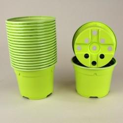 Pots ronds Ø10.5 cm (x20) - vert bambou