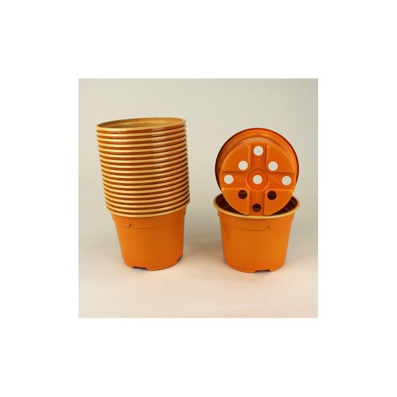 Pots ronds Ø10.5 cm (x20) - orange