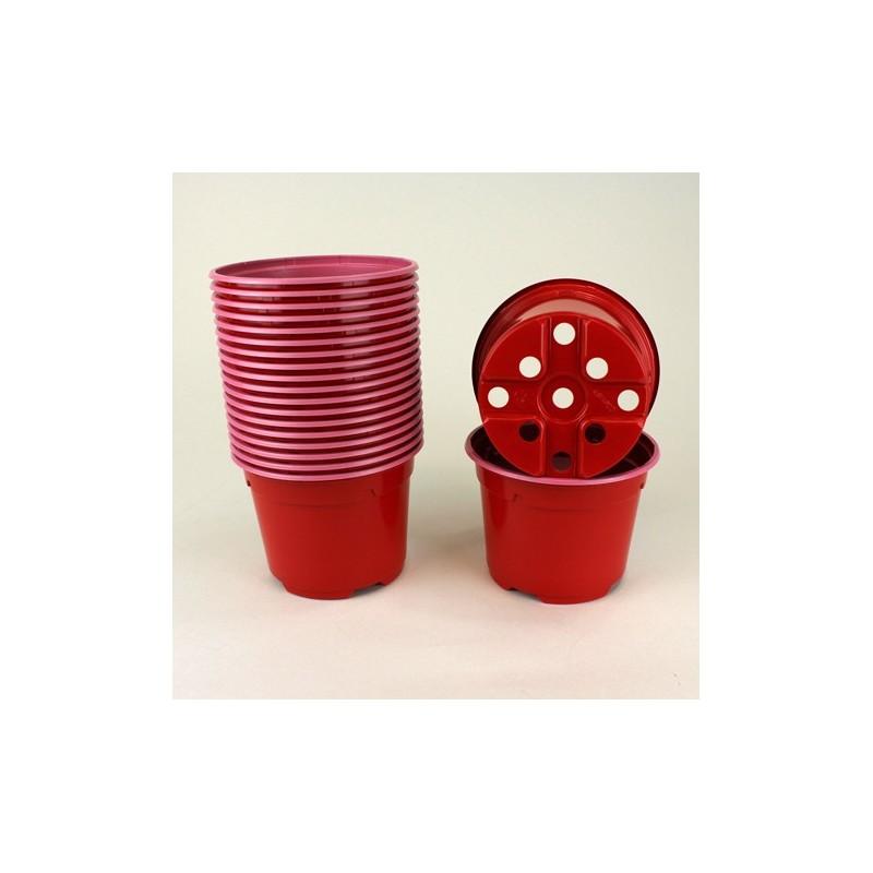 Pots ronds Ø10.5 cm (x20) - rouge