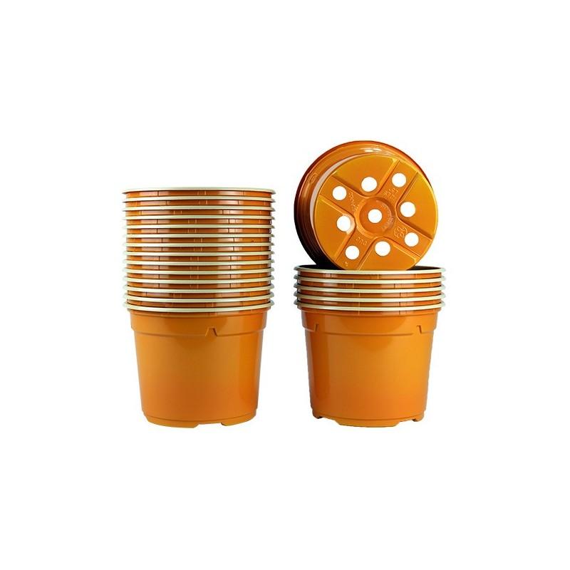 Pots ronds Ø12 cm (x20) - orange