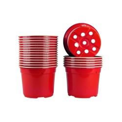 Pots ronds Ø12 cm (x20) - rouge