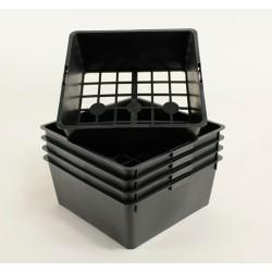 Clayettes PM4 pour godets 7x7x6.4 (x5) - noir