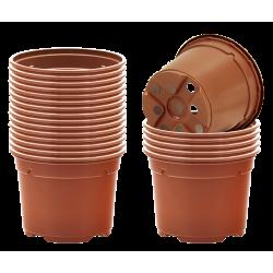 Pots ronds Ø10.5 cm (x20) - bicolore