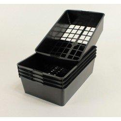 Clayettes PM6 pour godets 7x7x6.4 (x5) - noir