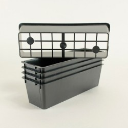Clayettes GM3 pour godets 8x8x7 (x5) - noir